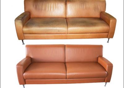Børge Mogensen lædersofa renset og indfarvet